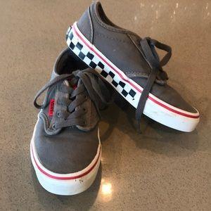 Gray Checkered Vans